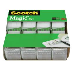 """Scotch® Magic™ Tape In Dispensers, 3/4"""" x 850"""", Pack Of 4 Rolls"""
