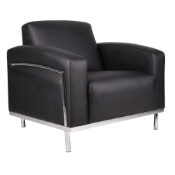 Boss CaressoftPlus™ Lounge Club Chair, Black/Silver