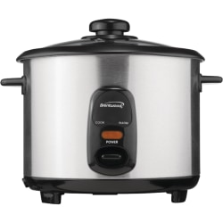Brentwood 1.8 Liter Rice Cooker Stainless Steel - 1.90 quart - Stainless Steel