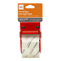 "Office Depot® Brand Moving & Shipping Tape With Dispenser, 1.89"" x 30 Yd., Clear"