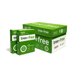 "TreeZero Multi-Use Sugarcane Paper, Letter Size (8 1/2"" x 11""), 20 Lb, Ream Of 500 Sheets, Case Of 10 Reams"