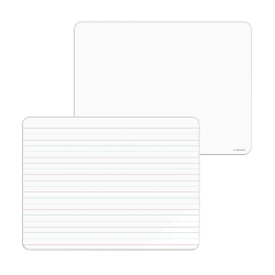 """U Brands Double-Sided Unframed Dry-Erase Whiteboards, 9"""" x 12"""", White, Pack Of 10"""