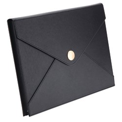 See Jane Work® Faux Leather Document Pouch, Black
