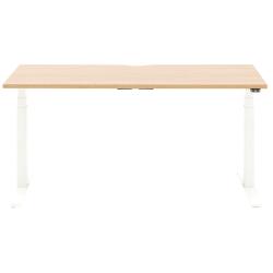 "Allermuir Slide Electric Height-Adjustable Standing Desk, 29""H x 60""W x 30""D, Oak/White"