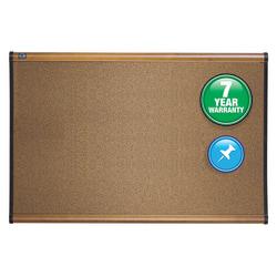 "Quartet® Select Prestige™ Color Cork Bulletin Board, Maple Finish Frame, 48""H x 72""W"