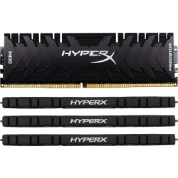 Kingston HyperX Predator 32GB DDR4 SDRAM Memory Module - 32 GB (4 x 8 GB) - DDR4-2666/PC4-21300 DDR4 SDRAM - CL13 - 1.35 V - Non-ECC - Unbuffered - 288-pin - DIMM