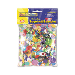 Chenille Kraft Creativity Street Sequins And Spangles, Assorted Colors, 4 Oz