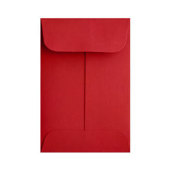 """LUX Coin Envelopes, #1, 2 1/4"""" x 3 1/2"""", Ruby Red, Pack Of 250"""