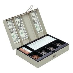 """Office Depot® Brand Cash Box, 3 1/8""""H x 11 3/8""""W x 7 5/8""""D, Sand"""