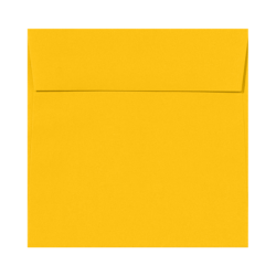 "LUX Square Envelopes With Peel & Press Closure, 6 1/2"" x 6 1/2"", Sunflower Yellow, Pack Of 500"