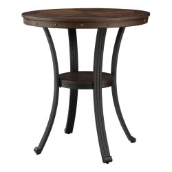 "Powell Vinessa Pub Table, 40"" x 36"", Rustic Umber/Brown"