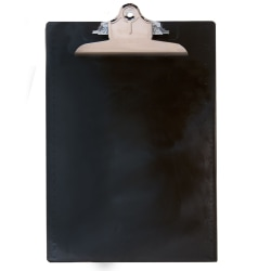 "Saunders® Plastic Clipboard, 8 1/2"" x 12"", Black"