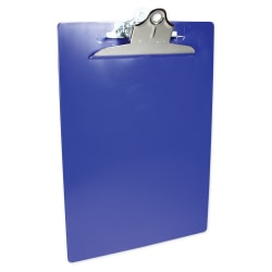"Saunders® Plastic Clipboard, 8 1/2"" x 12"", 50% Recycled, Blue"
