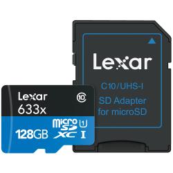 Lexar® High-Performance 633x microSDXC™ UHS-1 Memory Card, 128GB