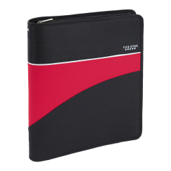 """Five Star® First Gear® Zipper 3-Ring Binder, 1 1/2"""" Round Rings, Assorted Colors"""