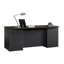 "Sauder® Via Executive Desk, 71 1/2""W x 35 1/2""D, Bourbon Oak/Soft Black"