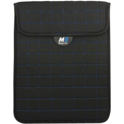 "Mobile Edge Neogrid Carrying Case (Sleeve) for 10"" iPad - Black, Blue - Neoprene, Polysuede Interior - 10"" Height x 8"" Width x 0.5"" Depth"