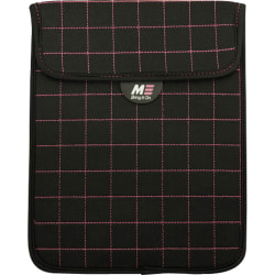 """Mobile Edge Neogrid Carrying Case (Sleeve) for 10"""" iPad - Black, Pink - Neoprene, Polysuede Interior - 10"""" Height x 8"""" Width x 0.5"""" Depth"""