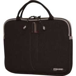 "Mobile Edge SlipSuit Carrying Case (Sleeve) iPad, Tablet PC - Black - Water Resistant - Neoprene - Handle - 8.5"" Height x 10.5"" Width x 1"" Depth"