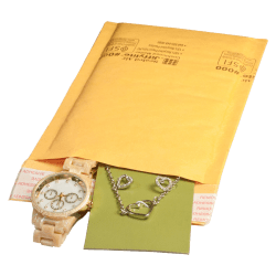 """United Stationers Sealed Air Jiffylite Cushioned Mailer, 4"""" x 8"""", Kraft, Carton Of 25"""