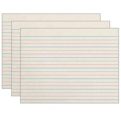 "Pacon® Zaner-Bloser Grade K Newsprint Handwriting Paper, 10-1/2"" x 8"", Ruled, 500 Sheets Per Pack, Set Of 3 Packs"