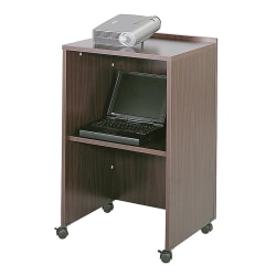 Safco® Lectern Base/Media Cart, Mahogany