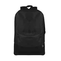 """Volkano Daily Grind Backpack With 18.1"""" Laptop Pocket, Black"""