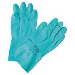 Ansell Pro Sol-Vex Sandpatch-Grip Nitrile Utility Gloves, Medium, Green