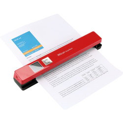 IRIS Iriscan Anywhere 5-Red Portable Document And Photo Scanner - 12 ppm (Mono) - 12 ppm (Color) - PC Free Scanning - USB