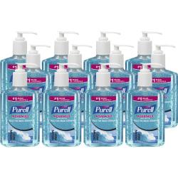 PURELL® Scented Instant Hand Sanitizer - Ocean Mist Scent - 8 fl oz (236.6 mL) - Pump Bottle Dispenser - Kill Germs - Hand - Blue - Moisturizing - 12 / Carton