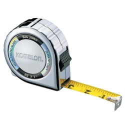 "Komelon USA Big John Tape Measure, 1"" x 35', Yellow/Chrome"
