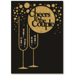 "Viabella Wedding Greeting Card With Envelope, Cheers To The Couple, 5"" x 7"""