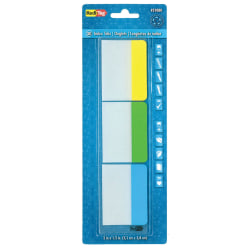 """Redi-Tag® Write-On Self-Stick Index Tabs/Flags, Assorted Colors, 1 1/2"""" x 2"""", Pack Of 30"""