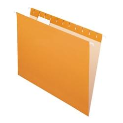 "Office Depot® Brand 2-Tone Hanging File Folders, 1/5 Cut, 8 1/2"" x 11"", Letter Size, Orange, Box Of 25 Folders"