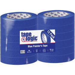 "Tape Logic® 3000 Painter's Tape, 3"" Core, 1"" x 180', Blue, Case Of 12"