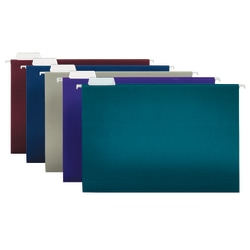 "Office Depot® Brand 2-Tone Hanging File Folders, 1/5 Cut, 8 1/2"" x 14"", Legal Size, Assorted Colors, Box Of 25 Folders"