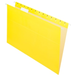 "Office Depot® Brand 2-Tone Hanging File Folders, 1/5 Cut, 8 1/2"" x 14"", Legal Size, Yellow, Box Of 25 Folders"