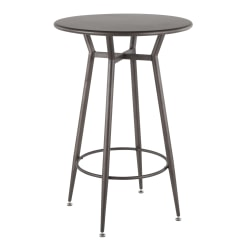 "LumiSource Clara Breakroom Table, 41""H x 27-1/2""W x 27-1/2""D, Antique Metal"