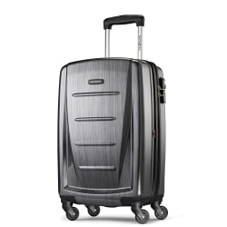 "Samsonite® Winfield 2 Polycarbonate Rolling Spinner, 20""H x 13 1/2""W x 9""D, Charcoal"