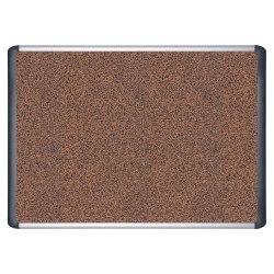 "MasterVision™ Teckcork™ Bulletin Board, 24"" x 36"", Silver Aluminum Frame"