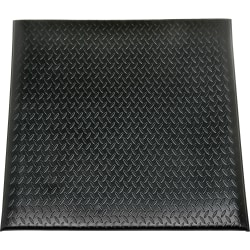 "SKILCRAFT 7220015826231 Industrial Anti-fatigue Mat - Floor - 36"" Length x 24"" Width x 0.56"" Thickness - Vinyl - Black"