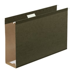 "Office Depot® Extra Capacity Hanging Folders With Reinforced Tabs, 1/5 Tab Cut, Legal Size (8-1/2"" x 14""), 3"" Expansion, Green, Box Of 25"