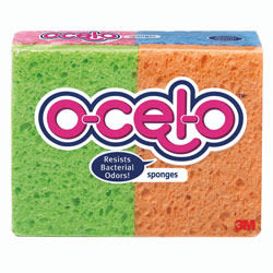 ocelo™ Cellulose Sponges, Assorted Colors, Pack Of 6
