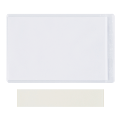 "SuperScan Press-On Vinyl Envelopes, 2"" x 3 1/2"", Clear, Case Of 50 Envelopes"