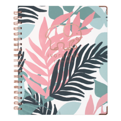 "Cambridge® Ivory Ella Weekly/Monthly Academic Hardcover Planner, 8"" x 10"", Palm, July 2020 To June 2021, 6382-405A"