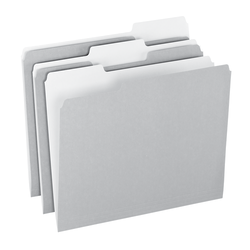 Office Depot® Brand Top Tab Color File Folders, 1/3 Cut, Letter Size, Gray, Box Of 100