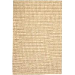 "Anji Mountain Zatar Wool And Jute Rug, 2' 6"" x 8', Natural/Tan"