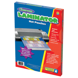 "Learning Resources Classroom Laminator Pouches, 3 mils, 8 1/2"" x 11"", Pack Of 100, EI-8811"
