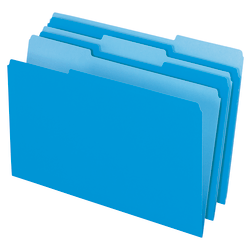 Office Depot® Brand Top Tab Color File Folders, 1/3 Cut, Legal Size, Blue, Pack Of 100