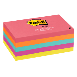 "Post-it® Notes, 3"" x 5"", Cape Town Color Collection, Pack Of 5 Pads"
